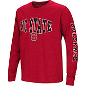 Colosseum Youth NC State Wolfpack Red Spike Long Sleeve T-Shirt