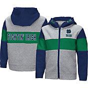 Colosseum Toddler Boys' Notre Dame Fighting Irish Grey Snowplough Full-Zip Hoodie