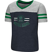 Colosseum Toddler Girls' Notre Dame Fighting Irish Navy/Grey Pee Wee Football T-Shirt