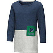 Colosseum Toddler Girls' Notre Dame Fighting Irish Navy/Grey Twizzle Dress