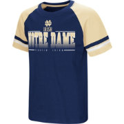 Colosseum Youth Notre Dame Fighting Irish Navy/Gold Rad Tad Raglan T-Shirt