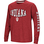 Colosseum Youth Indiana Hoosiers Crimson Spike Long Sleeve T-Shirt