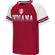 Colosseum Youth Indiana Hoosiers Crimson/Cream Rad Tad Raglan T-Shirt