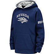 Colosseum Youth Nevada Wolf Pack Blue Fleece Pullover Hoodie