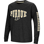 Colosseum Youth Purdue Boilermakers Spike Long Sleeve Black T-Shirt