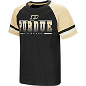 Colosseum Youth Purdue Boilermakers Black/Gold Rad Tad Raglan T-Shirt