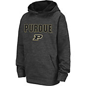 Colosseum Youth Purdue Boilermakers Grey Pullover Hoodie