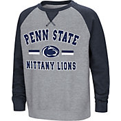 Colosseum Youth Penn State Nittany Lions Grey/Blue Rudy Zoleteck Fleece Sweatshirt
