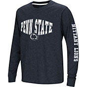 Colosseum Youth Penn State Nittany Lions Blue Spike Long Sleeve T-Shirt
