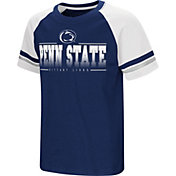 Colosseum Youth Penn State Nittany Lions Blue/White Rad Tad Raglan T-Shirt