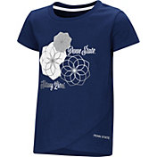 Colosseum Toddler Girls' Penn State Nittany Lions Blue Whoo! Whoo! T-Shirt