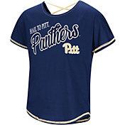 Colosseum Youth Girls' Pitt Panthers Blue Little Giants Dolman T-Shirt
