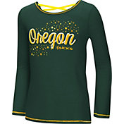 Colosseum Youth Girls' Oregon Ducks Green Camber Long Sleeve T-Shirt