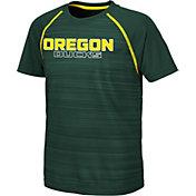 Colosseum Youth Oregon Ducks Green Raglan T-Shirt