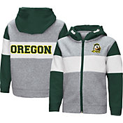 Colosseum Toddler Boys' Oregon Ducks Grey Snowplough Full-Zip Hoodie