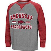 Colosseum Youth Arkansas Razorbacks Grey/Cardinal Rudy Zoleteck Fleece Sweatshirt
