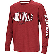 Colosseum Youth Arkansas Razorbacks Cardinal Spike Long Sleeve T-Shirt