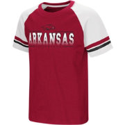 Colosseum Youth Arkansas Razorbacks Cardinal/White Rad Tad Raglan T-Shirt