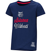 Colosseum Toddler Girls' Arizona Wildcats Navy Whoo! Whoo! T-Shirt