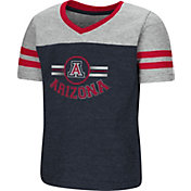 Colosseum Toddler Girls' Arizona Wildcats Navy/Grey Pee Wee Football T-Shirt