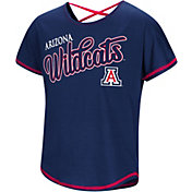 Colosseum Youth Girls' Arizona Wildcats Navy Little Giants Dolman T-Shirt