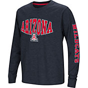 Colosseum Youth Arizona Wildcats Navy Spike Long Sleeve T-Shirt