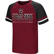 Colosseum Youth South Carolina Gamecocks Garnet/Black Rad Tad Raglan T-Shirt