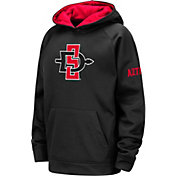 Colosseum Youth San Diego State Aztecs Fleece Pullover Black Hoodie