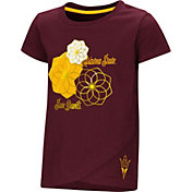 Colosseum Toddler Girls' Arizona State Sun Devils Maroon Whoo! Whoo! T-Shirt