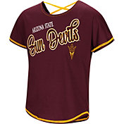 Colosseum Youth Girls' Arizona State Sun Devils Maroon Little Giants Dolman T-Shirt