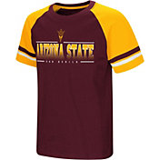 Colosseum Youth Arizona State Sun Devils Maroon/Gold Rad Tad Raglan T-Shirt