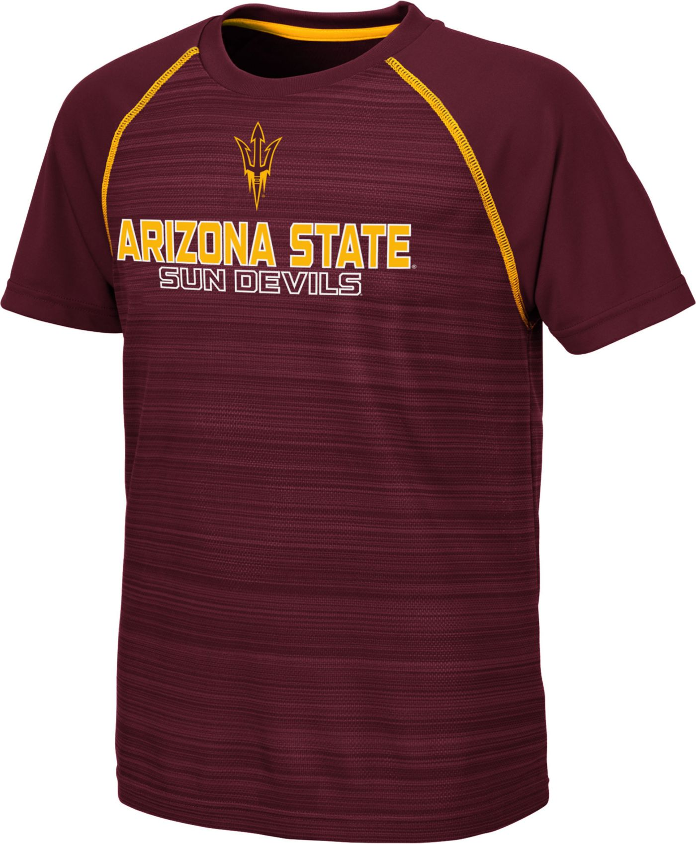 Colosseum Youth Arizona State Sun Devils Maroon Raglan T-Shirt