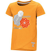 Colosseum Toddler Girls' Tennessee Volunteers Tennessee Orange Whoo! Whoo! T-Shirt