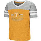 Colosseum Toddler Girls' Tennessee Volunteers Tennessee Orange/Grey Pee Wee Football T-Shirt