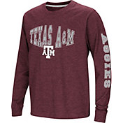 Colosseum Youth Texas A&M Aggies Maroon Spike Long Sleeve T-Shirt
