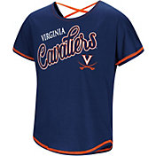 Colosseum Youth Girls' Virginia Cavaliers Blue Little Giants Dolman T-Shirt