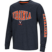 Colosseum Youth Virginia Cavaliers Blue Spike Long Sleeve T-Shirt