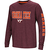 Colosseum Youth Virginia Tech Hokies Maroon Spike Long Sleeve T-Shirt