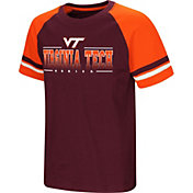 Colosseum Youth Virginia Tech Hokies Maroon/Burnt Orange Rad Tad Raglan T-Shirt