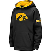 Colosseum Youth Iowa Hawkeyes Pullover Black Hoodie