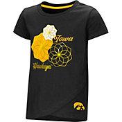 Colosseum Toddler Girls' Iowa Hawkeyes Black Whoo! Whoo! T-Shirt