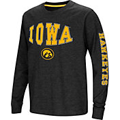 Colosseum Youth Iowa Hawkeyes Spike Long Sleeve Black T-Shirt
