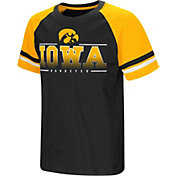 Colosseum Youth Iowa Hawkeyes Black/Gold Rad Tad Raglan T-Shirt