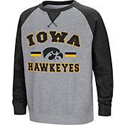Colosseum Youth Iowa Hawkeyes Grey/Navy Rudy Zoleteck Fleece Sweatshirt