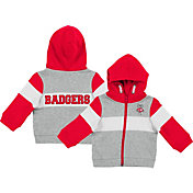 Colosseum Infant Boys' Wisconsin Badgers Grey Snowplough Full-Zip Hoodie