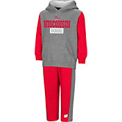 Colosseum Toddler Boys' Wisconsin Badgers Grey/Red Back To Second Grade Fleece Set