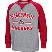 Colosseum Youth Wisconsin Badgers Grey/Red Rudy Zoleteck Fleece Sweatshirt