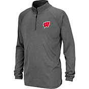 Colosseum Youth Wisconsin Badgers Grey Quarter-Zip Shirt