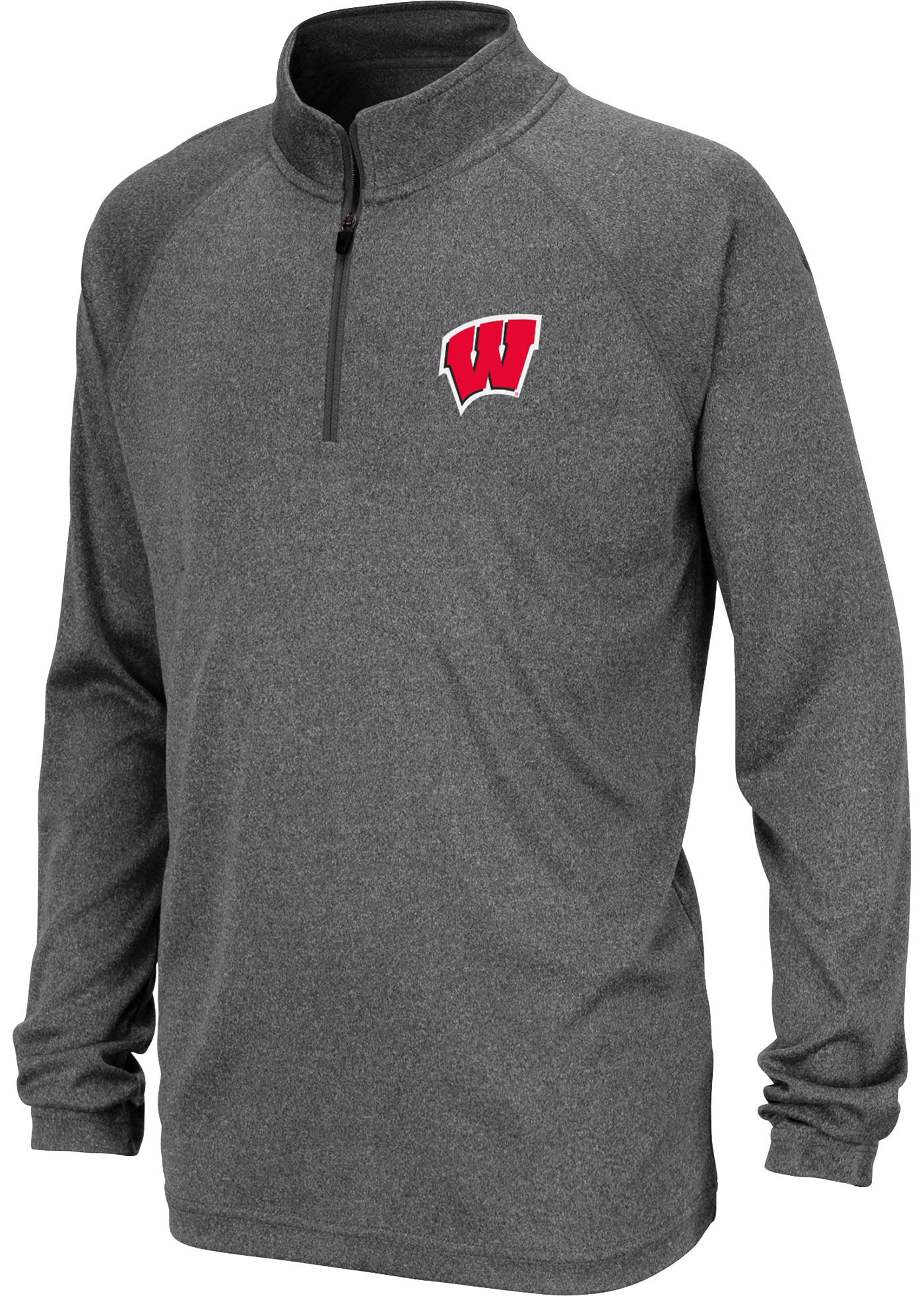 Colosseum Youth Wisconsin Badgers Grey Quarter-Zip Shirt