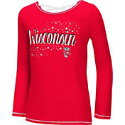 Colosseum Youth Girls' Wisconsin Badgers Red Camber Long Sleeve T-Shirt
